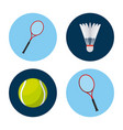 sport related icons vector image