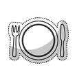 kitchen dish and cutlery isolated icon vector image vector image