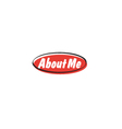 About me button vector image vector image