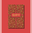 red yellow and brown vintage gift card design vector image