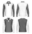 mens long sleeve polo shirt vector image vector image