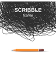 scribble background vector image vector image