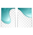 Bright wavy flyer design vector image