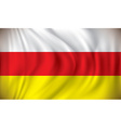 Flag of South Ossetia vector image vector image