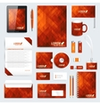 Red set of corporate identity template vector image