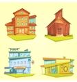 Building Cartoon Set vector image