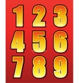 Retro numbers for signs with lamps vector image