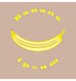banana icon banana logo vector image