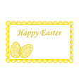 Elegant Easter eggs on greeting card vector image