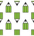 Green pencils seamless pattern vector image