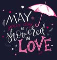 hand drawn inspiration lettering quote - may your vector image