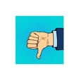 hand shows thumb down isolated on white vector image