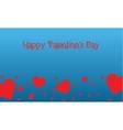 Landscape of valentine on blue backgrounds vector image