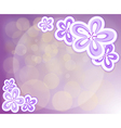 A lavender stationery with flowers vector image vector image