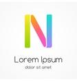 Logo letter N company design template vector image