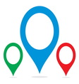 Navigation pin1 resize vector image vector image