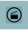 Pale blue clapperboard sign vector image