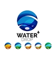 Set of abstract eco water icons business logotype vector image vector image