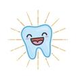 Happy tooth kawaii vector image