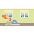 Pregnant woman on gymnastic ball vector image vector image