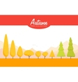 Cartoon Autumn trees set Low poly vector image