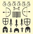 Flat Geometric Fantasy Icons vector image