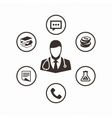 Icon set doctor vector image