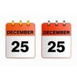 Icons of calendar with Christmas vector image