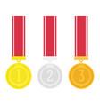 medal set vector image