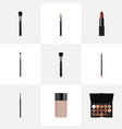 realistic powder blush make-up product pomade vector image