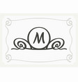 stylish graceful monogram elegant line art logo vector image