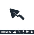 Trowel icon flat vector image