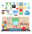 Boy baby room set vector image
