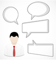 Businessman and speech bubbles vector image