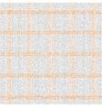 Checkered grey orange pattern vector image