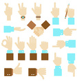 Hand flat design set with okay gesture vector image