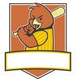 bird baseball player vector image vector image
