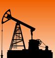 Oil pump jack Oil industry equipment vector image vector image