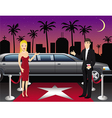hollywood red carpet hosts vector image