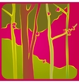 Forest in spring vector