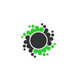 abstrac dot circle icon element vector image