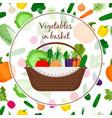 basket with vegetables vector image