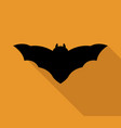 bat icon vector image