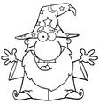 Cartoon wizards casting spells vector image
