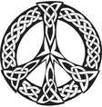 Celtic Design - Peace symbol vector image