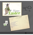 Easter Background With Bunny vector image