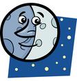 funny moon cartoon vector image