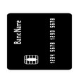 inserting credit card the black color icon vector image