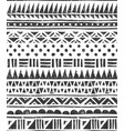 seamless pattern in tribal style abstract vector image