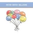 Sketch Balloons vector image